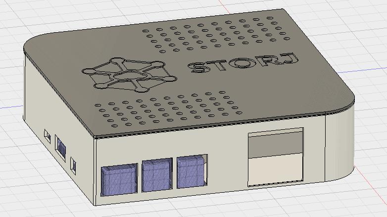 Ein Gehäuse für eine storj.io Raspberry Pi Cloud mit Fusion 360 erstellen